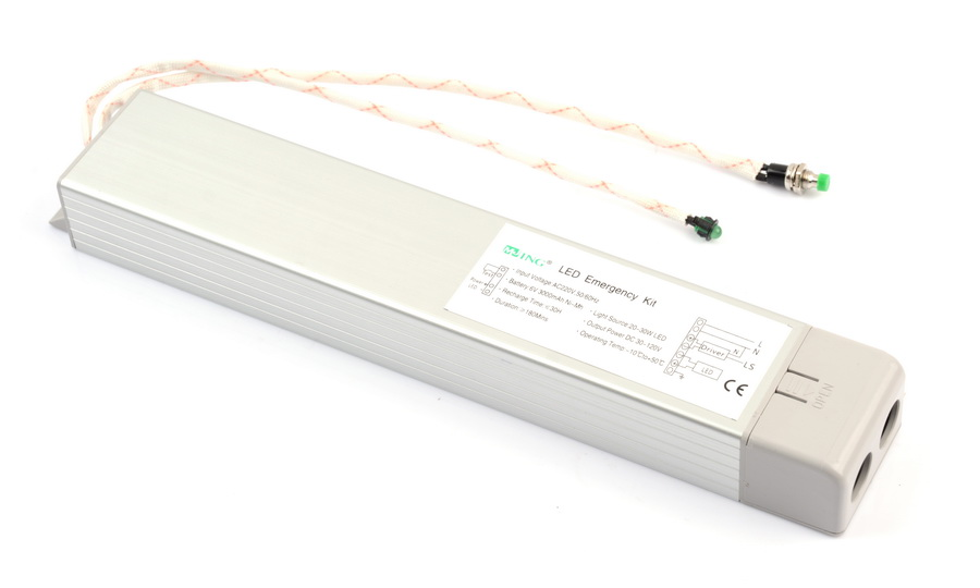led emergency conversion kits with rechargeable battery