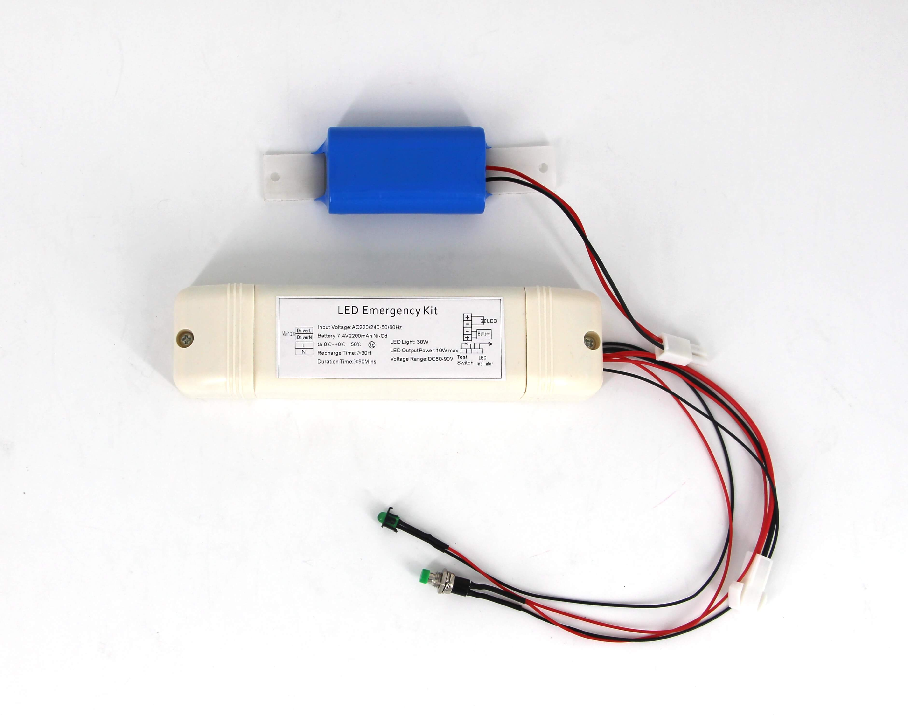 30W LED Emergency Driver With Battery Backup
